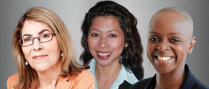 Elizabeth Lesser, Kemi Nekvapil, and Loung Ung